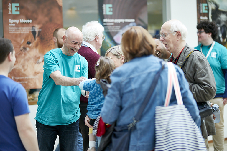 Image: Dr Graham Etherington showcasing EI science at our Open Day in 2019