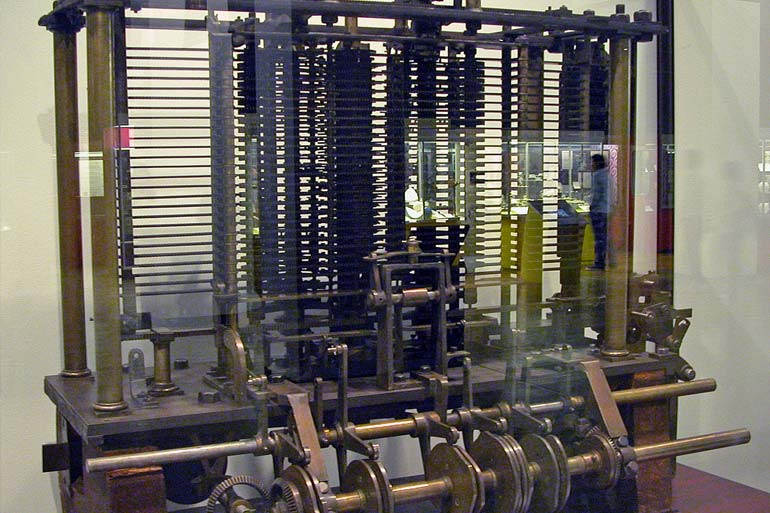 Trial model of a part of the Analytical Engine