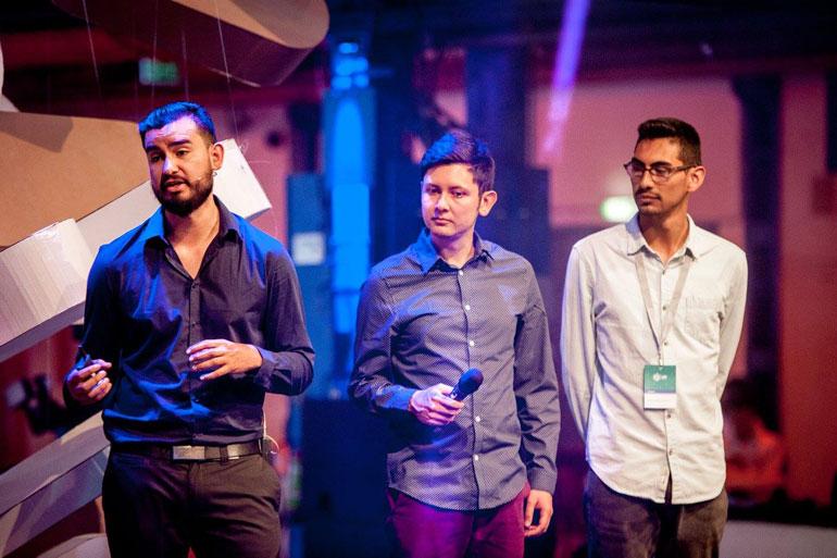 Darío Gonzales and his team, CEO - Cultivando Futuro