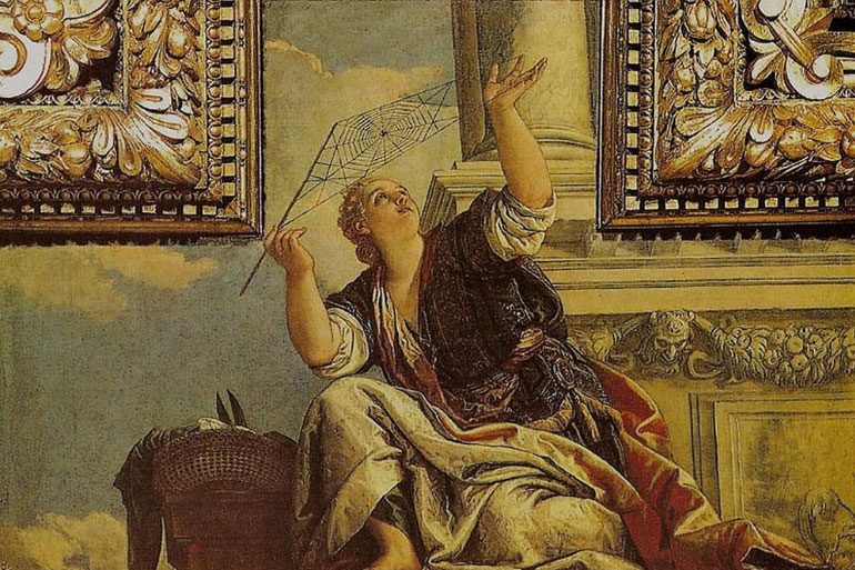 In greek mythology, Athena turned Arachne in to a spider