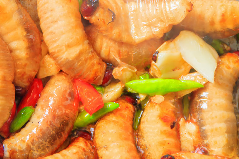 Sago grubs are a high-protein food delicacy in South-East Asia