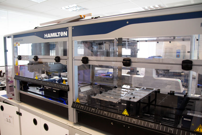 The Earlham DNA Foundry uses laboratory automation for nano-scale modular DNA assembly