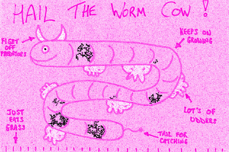 The visionary worm cow