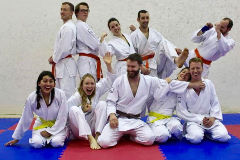 EI postdoc scientist Ross Low also runs a local Jujitsu club. Several EI staff participate including Year in Industry students