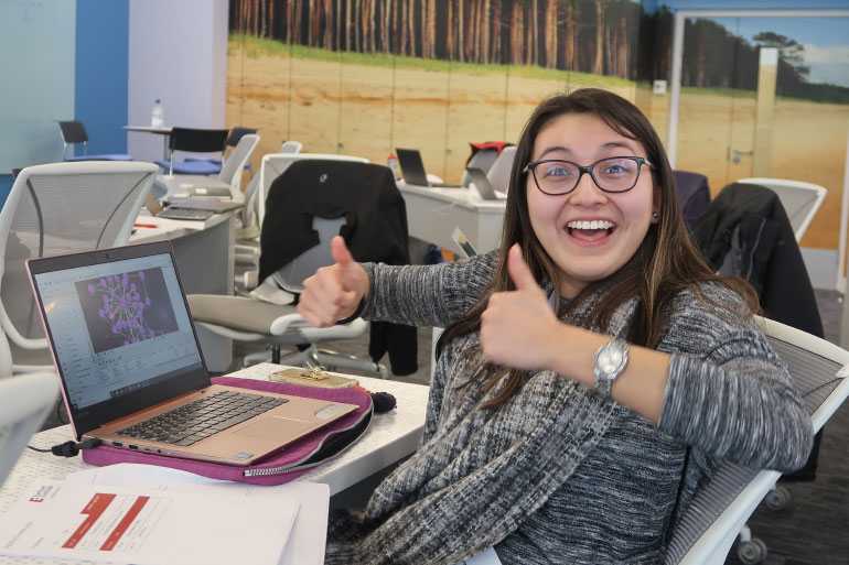 From Elena's first glance at the EI website, she was impressed with the projects and became very enthusiastic about joining EI
