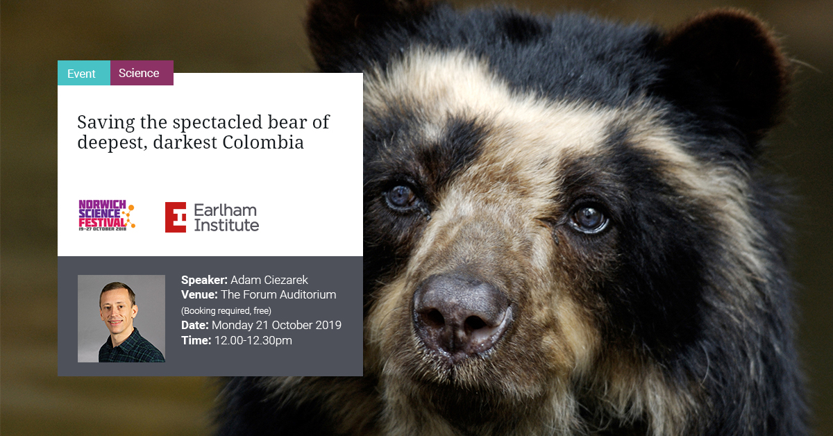 Adam Ciezarek talk on Saving the Spectacled Bear of Deepest, Darkest Colombia