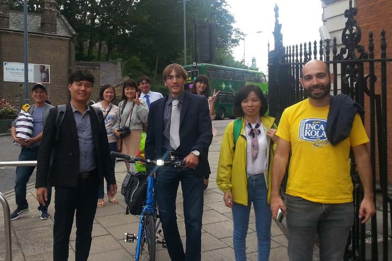 Our Vietnamese guests out in Norwich city centre