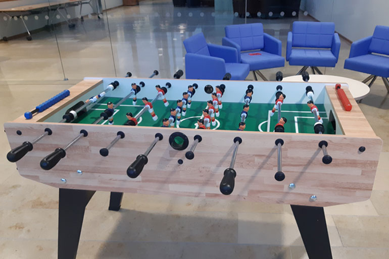 Alexandra Varess also gained some life skills in the EI table football tournament