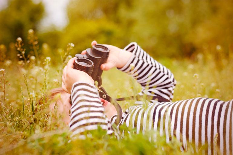 Michelle Grey - girl with binoculars