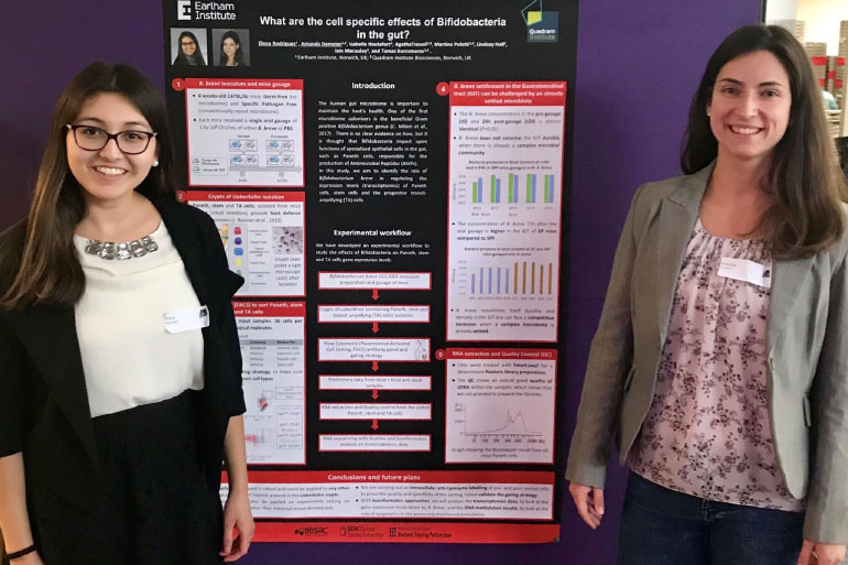 During her Year in Industry placement, Elena had the opportunity to present a poster at a symposium in London