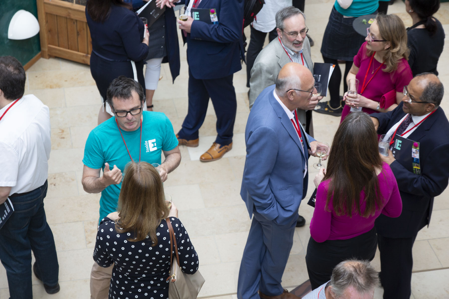 Image: Group of delegates at a networking session at EI Innovate