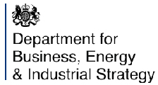 HM Government Department for Business, Energy and Industrial Strategy (BEIS) logo
