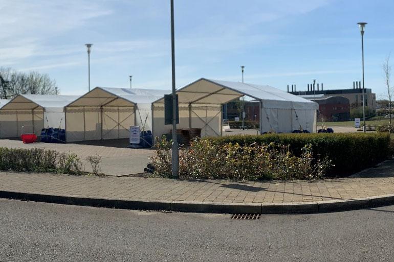 Norwich Research Park drive thru COVID-19 testing