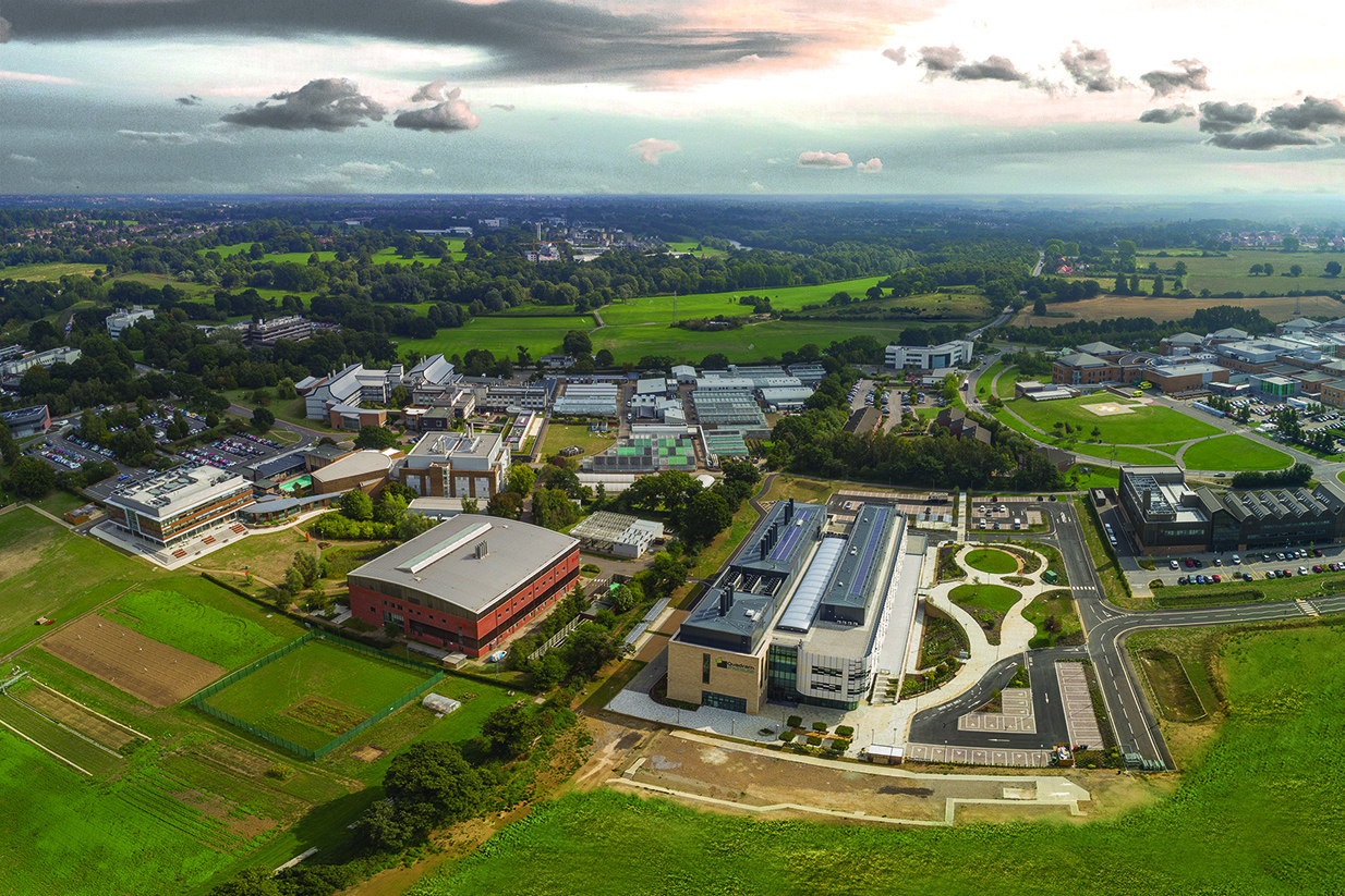 Aerial View of the Norwich Research Park