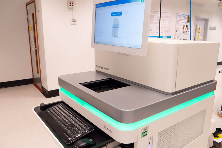 Illumina NovaSeq for DNA sequencing